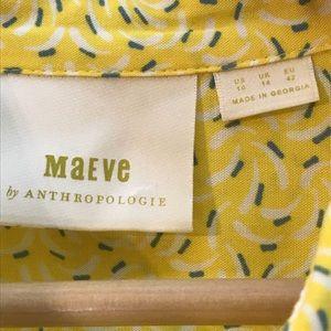 Anthropologie Tops - Maeve Sz 10 Banana Print Blouse